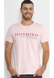 Camiseta Colcci Perspective Masculina - Masculino-Rosa