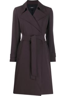 Theory Belted Trench Coat - Marrom
