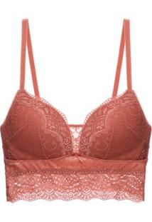 Sutiã Top Bojo Renda Love Lace Loungerie - Nude