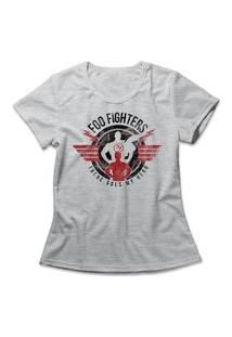 Camiseta Feminina Foo Fighters My Hero Cinza