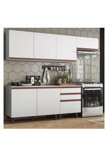 Cozinha Completa Madesa Reims 250002 Com Armário E Balcáo - Branco Branco