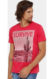 Camiseta Colcci Survive Masculina - Masculino