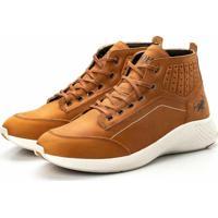 26a6164ac0 Coturno Tênis Casual Jhon Boots Clássico Marrom Claro