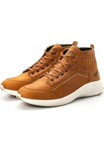Coturno Tênis Casual Jhon Boots Clássico Marrom Claro