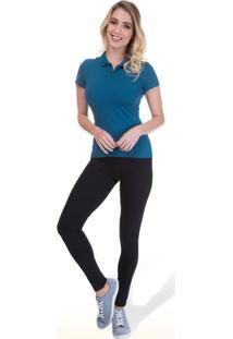 Blusa Polo Básica Adulto Malwee - Azul - Pp
