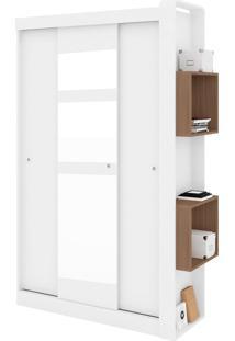 Guarda Roupa Com Espelho 3 Portas Branco E Montana Art In Móveis