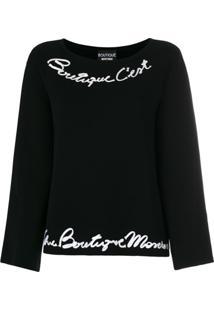 Boutique Moschino Pullover Mangas Amplas - Preto