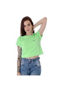 Camiseta Cropped Operarock Stone Verde