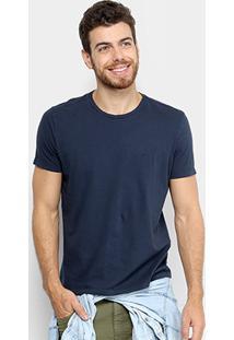 Camiseta Ellus Cotton Fine Asa Classic Masculina - Masculino-Azul Escuro