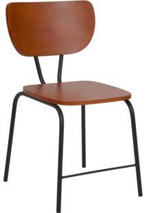 Cadeira Lor Amêndoa E Preto