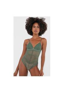 Body Colcci Underwear Renda Verde