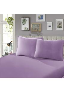 Lençol Com Elástico King 40 Confort 1 Peça Rose - Sbx Têxtil