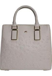 Bolsa Mão E Tiracolo Hand Bag Relax Feminina - Feminino-Off White