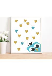 Quadro Decorativo Infantil Coruja Love