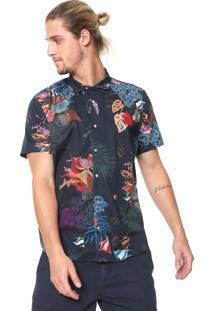 Camisa Reserva Reta Paraiso Azul-Marinho
