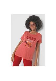 Camiseta Cantão Lazy Monday Vermelha