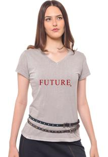94c5af895c Camiseta Cinza Vermelha feminina