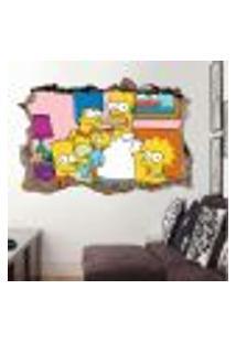 Adesivo Buraco Na Parede Os Simpsons 2 - G 65X100Cm
