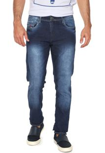 Calça Jeans Rowers Slim Estonada Azul