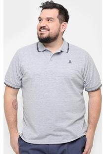 Camisa Polo Plus Size Broken Rules Frisos Masculina - Masculino