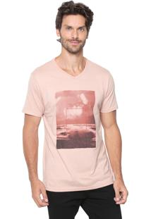 Camiseta Malwee Estampada Rosa