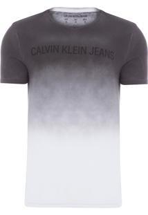 Camiseta Masculina Ckj Degrade - Preto