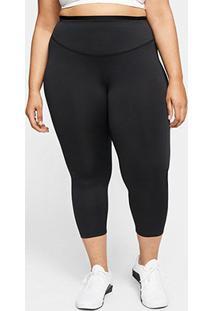 Calça Legging Nike One Icon Clash Plus Size Feminina - Feminino-Preto