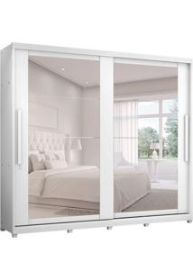 Guarda-Roupa Casal Com Espelho Londres 2 Pt 8 Gv Branco