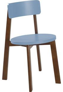 Cadeira Lina 75 Cm 941 Cacau/Azul Serenata - Maxima