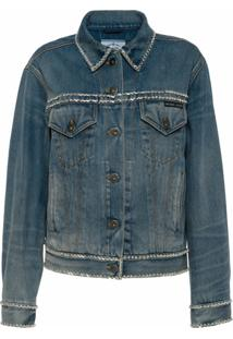 Prada Jaqueta Jeans - Azul