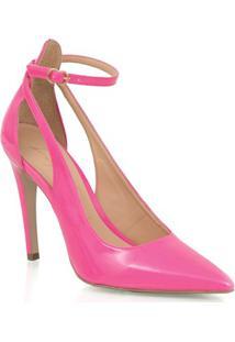 Scarpin Salto Alto Rosa Neon