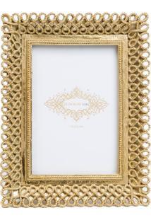Porta Retrato Le Lis Blanc Casa Gold Dourado (Dourado, Un)