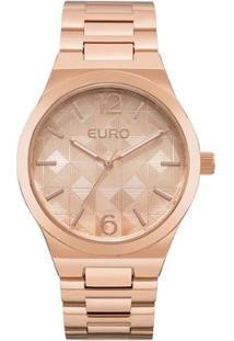 Relógio Feminino Euro Eu2036Yln/4T 44Mm Pulseira Aço Rosê - Feminino-Nude