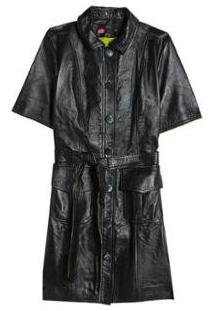 Vestido Couro Utilitario Eva - Feminino
