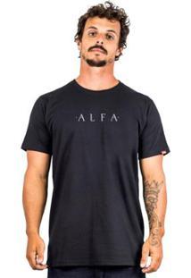 Camiseta Alfa Simple - Masculino-Preto