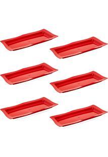 Saladeira Vemplast Moove Rasa Vermelho - Vermelho - Dafiti