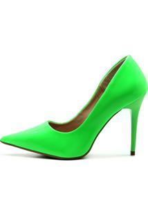 Scarpin Royalz Verniz Neon Fluorescente Penélope Verde.