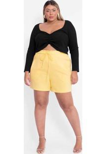 Shorts Almaria Plus Size Tal Qual Alfaiataria Com