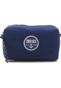 Necessaire Santa Lolla Monograma Azul