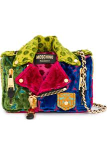 Moschino Bolsa Tiracolo Color Block - Rosa