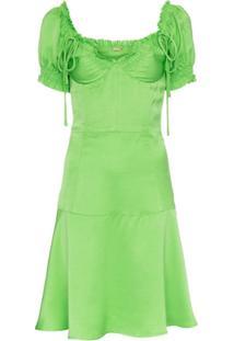 Cult Gaia Vestido Com Amarrações - Verde
