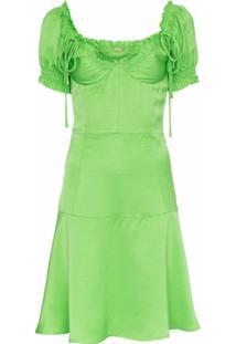 Cult Gaia Vestido Com Bustier E Amarrações - Verde