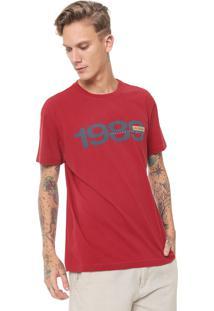 Camiseta Osklen Estampada Vermelha