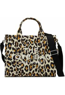 Marc Jacobs Bolsa Tote The Small Leopard Traveler - Marrom