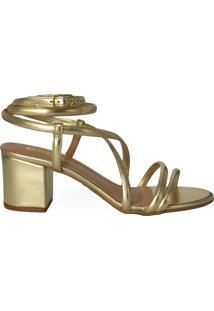 Sandália De Amarração Eloá Gold