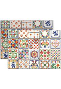 Kit 2Pçs Jogo Americano Mdecor Azuleijo Branco