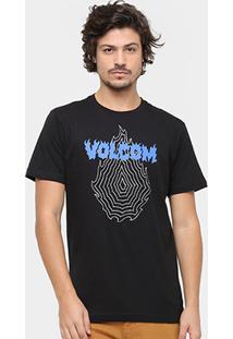 Camiseta Volcom Silk Slim Hesh Masculina - Masculino-Preto