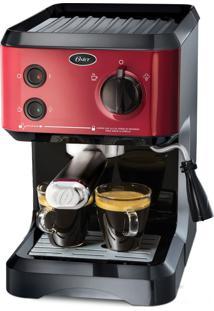 Cafeteira Expresso Cappuccino Vermelha Oster 220V