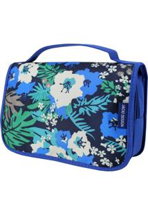 Necessaire De Viagem Estampada Jacki Design Miss Douce Azul Floral