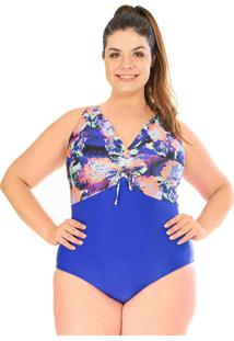 Maiô Ajustavel Plus Size Acqua Rosa W Blue